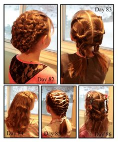 Girly Do's By Jenn. She posts pictures of what she did with her daughters hair each day. Great ideas.