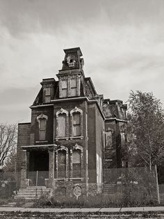 3966 Trumbull Ave Mansard, Detroit. supposedly used as the model house for the movie the Adam's Family