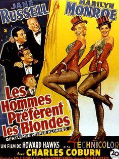 """1952-53, 3 films verront le jour, l'un de Alan DWAN, """"La femme aux révolvers"""", l'autre de Frank TASHLIN, """"Le fils de visage pâle"""", 2 films mineurs, et le film culte aux côtés de Marilyn (voir article sur ce blog de Marilyn MONROE), """"Les hommes préfèrent les blondes"""" de Howard HAWKS. (affiches et photos des 3 films respectifs)."""