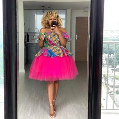"""Peplum Ankara and Tulle - Clothing – Tagged """"tulleskirtset"""" – Page 4 – Oyemwen African Dresses For Kids, African Inspired Fashion, Latest African Fashion Dresses, African Dresses For Women, African Print Fashion, African Attire, African Fashion Designers, Ankara Mode, Ankara Short Gown Styles"""