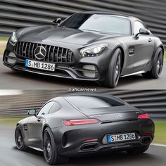 """AMG GT-C 50th debuts!! ______________________________________ The AMG GT-C is here and a special """"Edition 50"""" is too for AMG's birthday!Under the hood is the 4.0L TwinTurbo V8 making 550HP & 501 torques! 0-60 in 3.7sec and a 191MPH TopSpeed The GT-C borrows the grille, aero kit and the rear steering/axle from the GTR but not the hardcore traction bits!  The Edition 50 gets a designó Graphite Gray paint, custom wheels and only 50 coupes & 50 roadsters will be made!!! _______________..."""