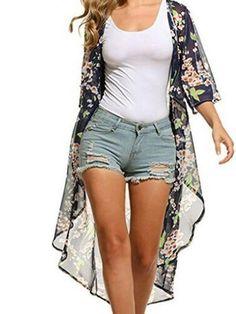 10904c42c5 Printed Long Sleeve Cardigans – ebuytide Floral Cardigan, Kimono Cardigan,  Chiffon Cardigan, Chiffon