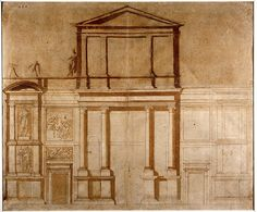 Michelangelo, Project Drawing for the Facade of San Lorenzo