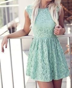 mint. lace. It needs a belt and cowboy boots and I'm good to go(: