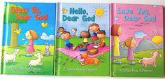 A Childs Book of Prayers Lot 3 Childrens Christian Board Books Church Bedtime #Prayerbooks