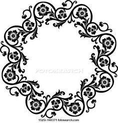 Decoración - Marco redondo tipo gótico o victoriano