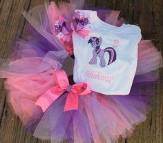 Tutu de cumpleaños Sparkle Twilight set My pony poco