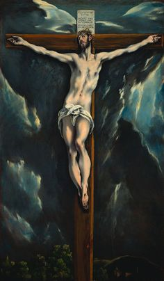 "El Greco, Christ on the Cross million new institute for Spanish art in Bishop Auckland to ""stand up against any museum in world"" Spanish Painters, Spanish Artists, Painting Words, Painting & Drawing, The Cross Of Christ, Cross Art, Creta, Cleveland Museum Of Art, Jesus Cristo"