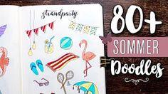 Über 80 Doodles Motive für den Sommer! Jetzt das ganze Video auf YouTube anschauen! Bujo, Typography Design, Art Drawings, Doodles, Lady, Youtube, Inspiration, Bullet Journal Ideas, Summer