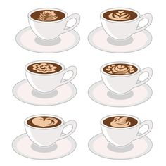 Latte Art Coffee Cup Cuttable Design Cut File. Vector, Clipart, Digital Scrapbooking Download, Available in JPEG, PDF, EPS, DXF and SVG. Works with Cricut, Design Space, Cuts A Lot, Make the Cut!, Inkscape, CorelDraw, Adobe Illustrator, Silhouette Cameo, Brother ScanNCut and other software.