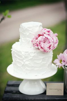 Peony cake. Bridal shower cake, please.