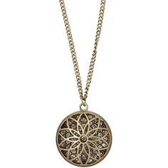 maurices Goldtone Flower Pendant With Rhinestones ($16) ❤ liked on Polyvore featuring jewelry, necklaces, accessories, goldtone jewelry, gold tone jewelry, flower jewellery, maurice jewelry and rhinestone pendant