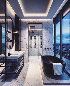 Fresh contemporary and luxury bathroom design ideas for your home. - Fresh contemporary and luxury bathroom design ideas for your home. See more clicking on the image. Dream Bathrooms, Beautiful Bathrooms, Modern Bathrooms, Luxury Bathrooms, Master Bathrooms, Small Bathrooms, Small Rooms, Small Spaces, Villa Design