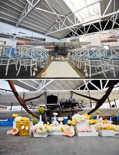 my favorite wedding find from pinterest in a while. dude. sooo sick. and it's an airplane hanger in OAKLAND CA! ummmmm #swoon
