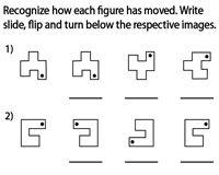 Slide, Flip and Turn Worksheets Mental Maths Worksheets, Geometry Worksheets, Teacher Worksheets, Reflection Math, 3rd Grade Math, Grade 3, Transformations Math, Math Word Walls, Math School