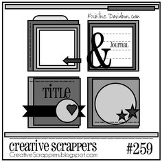 Creative Scrappers - 2 Photo 1 page scrapbook layout