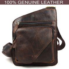 Cuero genuino bolso hombre moda casual cruzada cuerpo bolsa pequeña calle  moda primera capa de piel d77d7f7cc120c