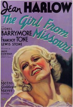 Jean Harlow poster, 1934, The Girl from Missouri
