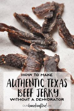 An authentic Texas Beef Jerky made without a dehydrator using furnace filters and a box fan. Discover the best cut of meat, easy, step-by-step instructions. Smoked Beef Jerky, Teriyaki Beef Jerky, Venison Jerky, Beef Jerky Dehydrator, Oven Jerky, Dehydrator Recipes, Jerkey Recipes, Beef Recipes, Snack Recipes