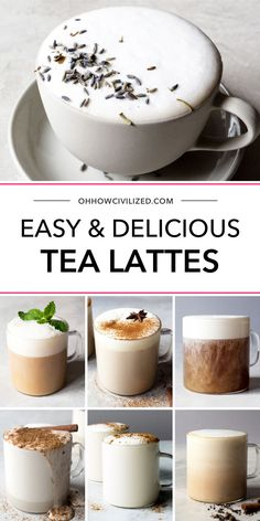 Tea drink recipes image by Vickie Nichols on Tea time in 2020 Yummy Drinks, Healthy Drinks, Yummy Food, Healthy Food, Nutrition Drinks, Healthy Recipes, Smoothie Drinks, Smoothies, Tea Drinks