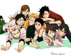 The Captains! // Haikyuu!! // Bokuto // Daichi // Oikawa // Ushijima // Kuroo // Terushima // Moniwa // Futakuchi