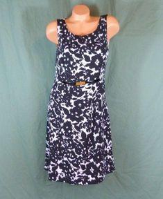 e5b60fbc60a4 Jones New York Designer Dress Size 10 Black White Formal Lined Stretch  Belted #JonesNewYork #
