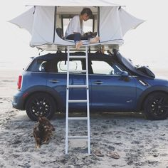 The LeTent Rooftop Tent - obviously a must have for all of those spontaneous roadtrips Camping Glamping, Camping And Hiking, Camping Life, Outdoor Camping, Backpacking, Top Tents, Roof Top Tent, My Dream Car, Dream Cars