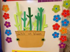 For the Love of Kindergarten - class behavior. When they fill the flowerpot, they earn a class treat. Could use idea with lots of themes.