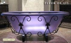 Soaking tub in purple