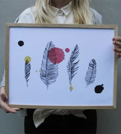 Print of illustration  Dimensions: 30 x 40 cm  Signed.  Printed on 220g paper.  (The frame is not included in the price)