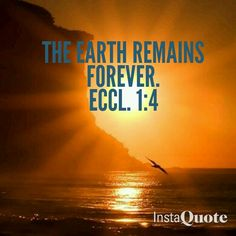 God's promise that the earth will never be destroyed by water, fire, or by any other means. It is here to stay!
