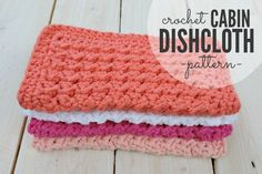I've been on a bit of a dishcloth kick lately and today I have a new one to share, the Crochet Cabin Dishcloth! These cloths remind me of something you would find in a camp or cabin and fold…