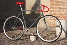 """Bici a scatto fisso """"Cenere e Bordeaux"""" - Vintage Biascagne Cicli"""