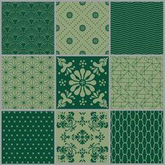 Green patterns mixed - Box set - Full coverage. Price 42,7 € Grøn mønstermix - Heldækkende folie. Pris 295 dkk.