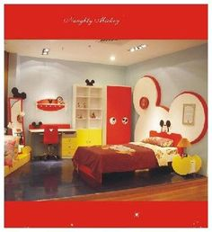 mickeymouse#myson#obsessin##1fan#aiden#clubhouse#red#bedroom#infant