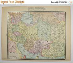 1887 Map of Palestine Holy Land Map Israel Jerusalem Syria Map
