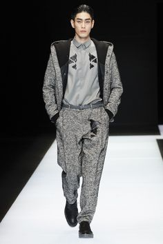 Style Korea: The Art of Korean Fashion • Choi Seung Ha for Emporio Armani Fall 2016 Milan...
