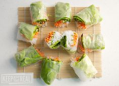 Nime Chow - summer rolls (like spring rolls but fresh, no frying!) with lime peanut sauce
