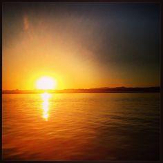 Sunset at Ria Formosa, Algarve, Portugal! Inspiring!