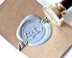 Virgo Gold Plated Wax Seal Stamp & Sealing Wax