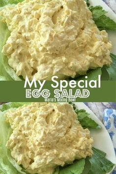MY SPECIAL EGG SALAD – If your looking for a special egg salad, this is it!So rich and creamy good. It really is SO delicious! MY SPECIAL EGG SALAD – If your looking for a special egg salad, this is it!So rich and creamy good. It really is SO delicious! Best Egg Salad Recipe, Easy Salad Recipes, Egg Recipes, Cooking Recipes, Healthy Recipes, Classic Egg Salad Recipe, Egg Salad With Cream Cheese Recipe, Southern Egg Salad Recipe, Delicious Recipes