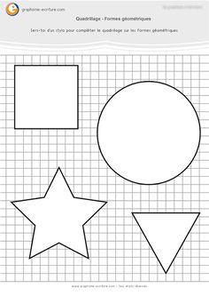 Fiche Maternelle Graphisme GS - Observer attentivement la progression des lignes et compléter les formes géométriques en y traçant des quadrillages.