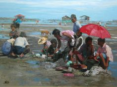 Orley Ypon: Lowtide in Mactan Philippine Art, Old Master, Pinoy, Art School, 19th Century, Concept Art, Contemporary Art, Old Things, Museum