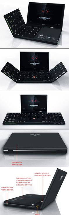 ure, there are tablets, like the iPad Mini, that can fit in some pockets, but there are those who prefer the practicality of a keyboard, and that's where this laptop comes in. When folded up, it looks like a game console or phone, but when opened up, you'