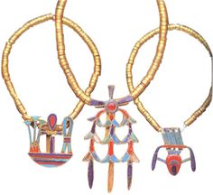 Bracelets of Princess Khnumit - These bracelets were discovered in the Tomb of Princess Khnumit , daughter of Amenemhat II , at Dahshur . They were carefully kept in a space in the wall of the tomb and this protected them from being robbed by thieves