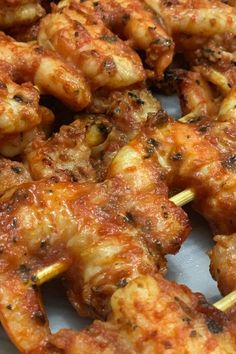 Grilled shrimp dish - a great inspiration for happy moments with family in the autumn dinner. A collection of 24 best delicious grilled shrimp recipes are here. With these grilled shrimp re Marinated Grilled Shrimp, Grilled Shrimp Recipes, Best Seafood Recipes, Fish Recipes, Chicken Recipes, Grilled Shrimp Marinade, Shrimp Marinade For Grilling, Mexican Shrimp Recipes, Recipies