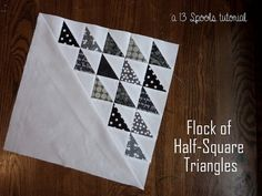 """The Flock of Geese HST Block is a flying geese quilt block tutorial with a twist. This adorable little hst block creates a """"flying v"""" of geese that is so simple and understated, but incredibly elegant."""