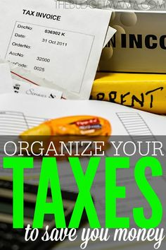Taxes may be no fun, but if you do not organize your taxes all year long, you could end up spending more money. Keep your taxes organized and save more money with these simple tactics! best money saving tips Show Me The Money, Save Your Money, How To Make Money, Money Tips, Money Saving Tips, Tax Preparation, Budgeting Finances, Budgeting Tips, Financial Tips