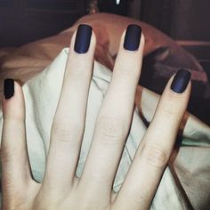 black matte nails.  Perfect for Halloween!
