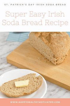 Easy Irish soda bread with no buttermilk! This St. Patrick's Day Irish soda bread recipe is made with homemade buttermilk. When you make your own buttermilk, you can use any milk you like. You can even make this recipe vegan Irish soda bread! Healthy Desserts For Kids, Dessert Recipes For Kids, Healthy Meals For Kids, Snack Recipes, Healthy Snacks, Healthy Vegetarian Breakfast, Healthy Breakfast For Kids, Vegetarian Recipes, Soda Bread Without Buttermilk